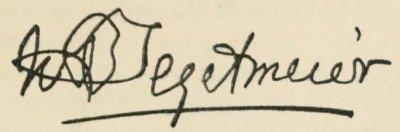 Tegetmeier's signature