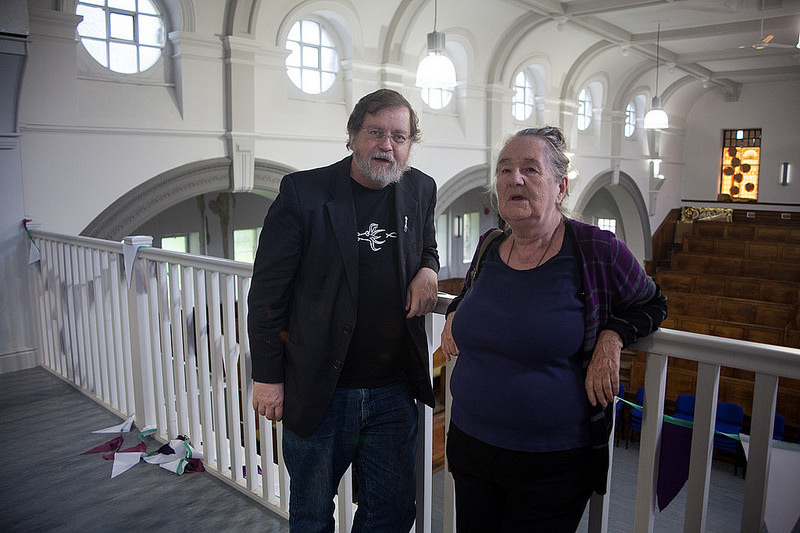 PZ Myers and Maureen Brian