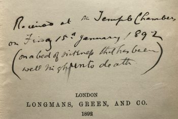 Book inscription