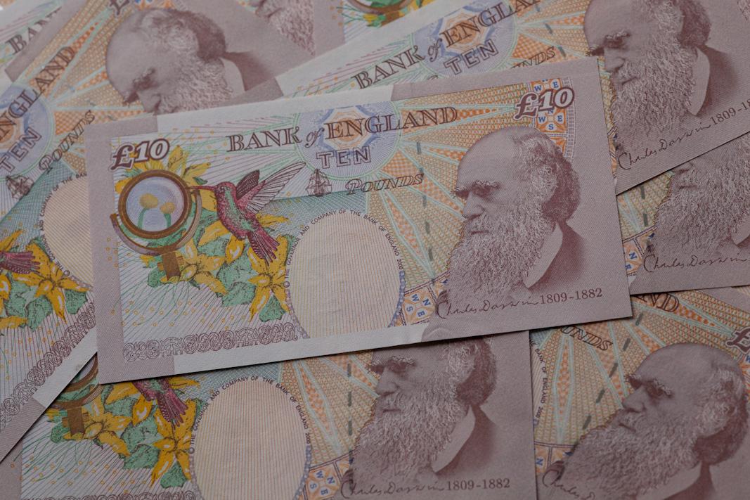 Darwin £10 notes