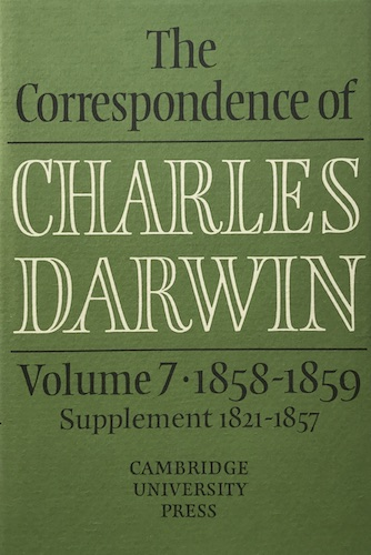 The Correspondence of Charles Darwin, volume 7: 1858–1859