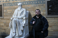 Me and the man, Natural History Museum, London